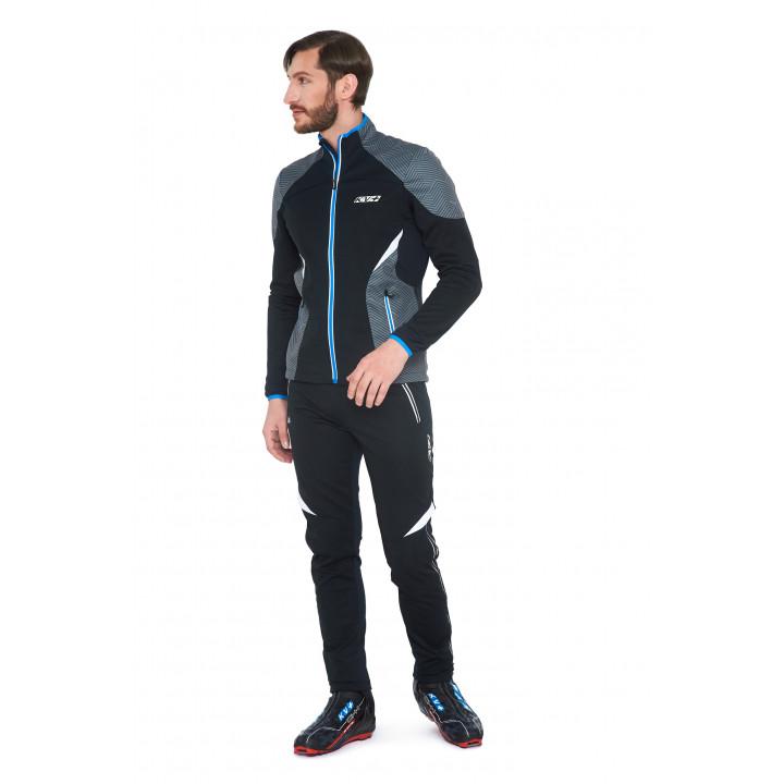 Куртка разминочная KV+ Lahti 9V116.1 черный/серый меланж