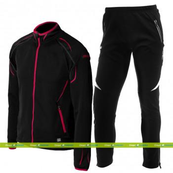 Лыжный разминочный костюм KV+ Cross (9V110.1 black - Lahti 7V117.1 black)