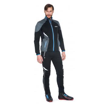 Лыжный разминочный костюм KV+ Lahti (9V116.1 - Lahti 7V117.1 black)