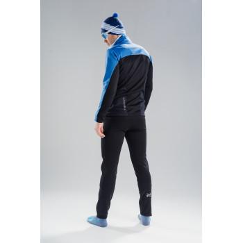 Лыжный разминочный костюм Nordski Active Base Blue-Black 2020 мужской