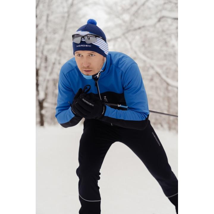 Лыжный разминочный костюм Nordski Active Blue-Black 2020 мужской