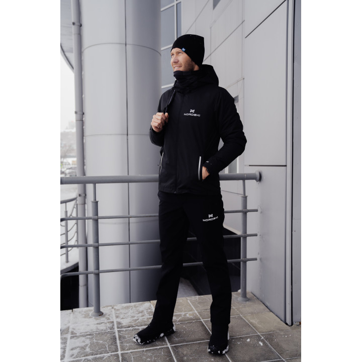Утеплённый лыжный костюм Костюм Nordski Urban Black мужской