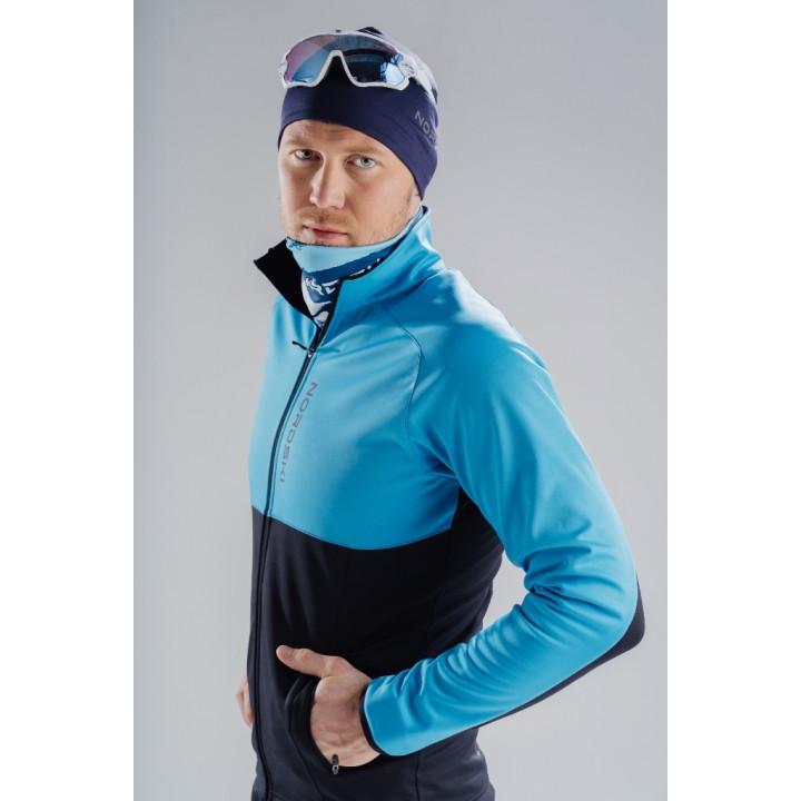 Куртка разминочная Nordski PREMIUM NSM443284 light blue/black