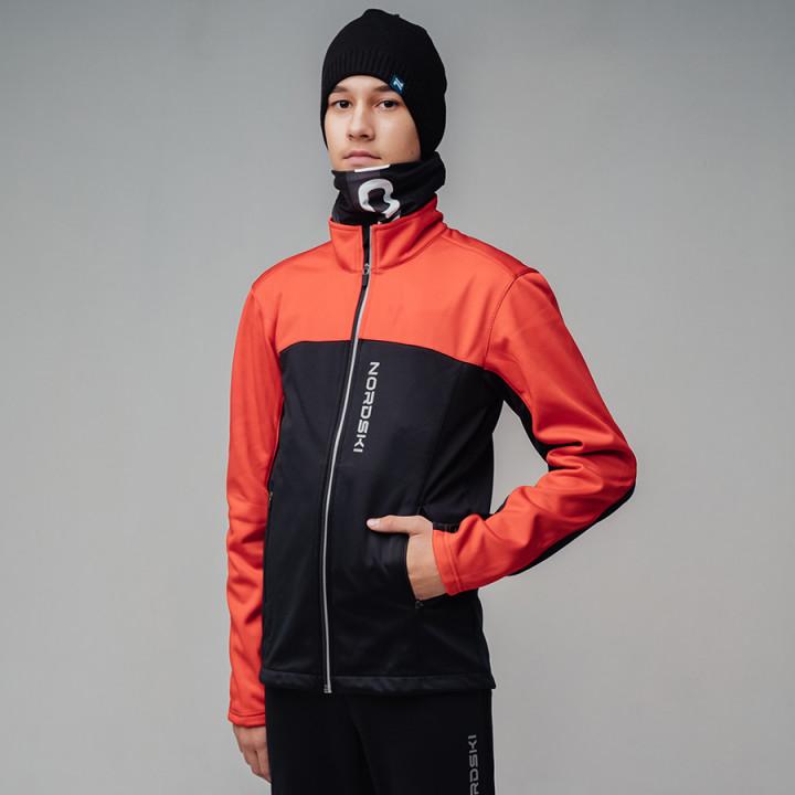 Куртка разминочная NordSki ACTIVE JR NSJ482910 red/black