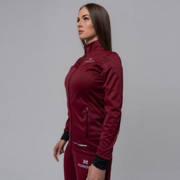 Куртка разминочная Nordski PRO W NSW545724 wine