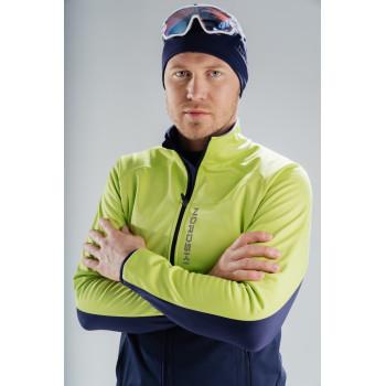 Куртка разминочная Nordski PREMIUM NSM443339 green/blueberry