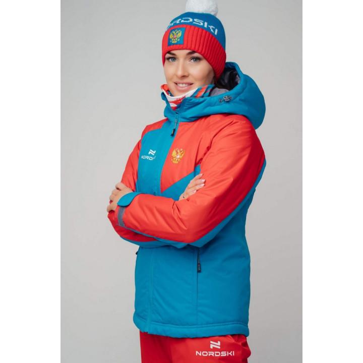 Куртка утепленная NordSki NATIONAL 2.0 W NSW432790 blue/red