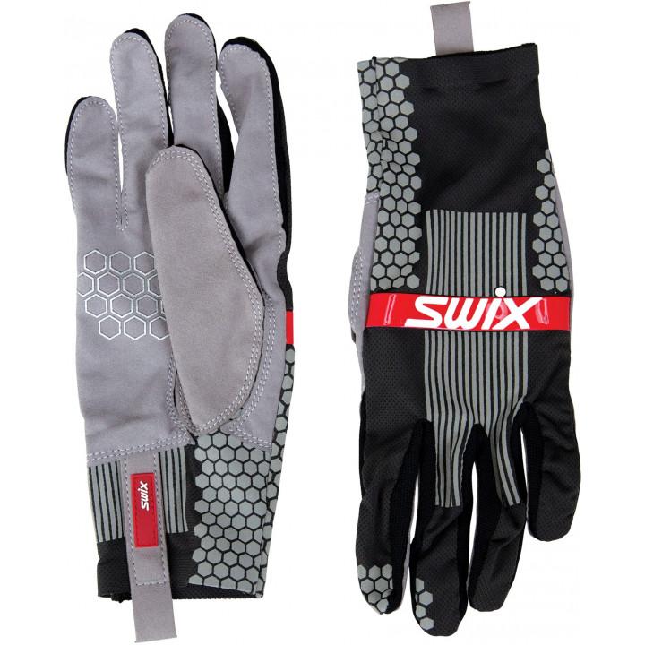 Перчатки лыжерол. Swix CARBON H0300 12400 тёмно-серый