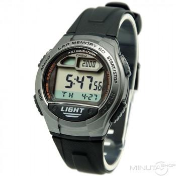 Часы Casio W-734-1A 60 отсечек т.серый