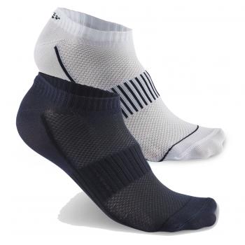 Носки комплект Craft Cool Training 1903429 2 пары короткие 2381 бел/т.син+т.синий