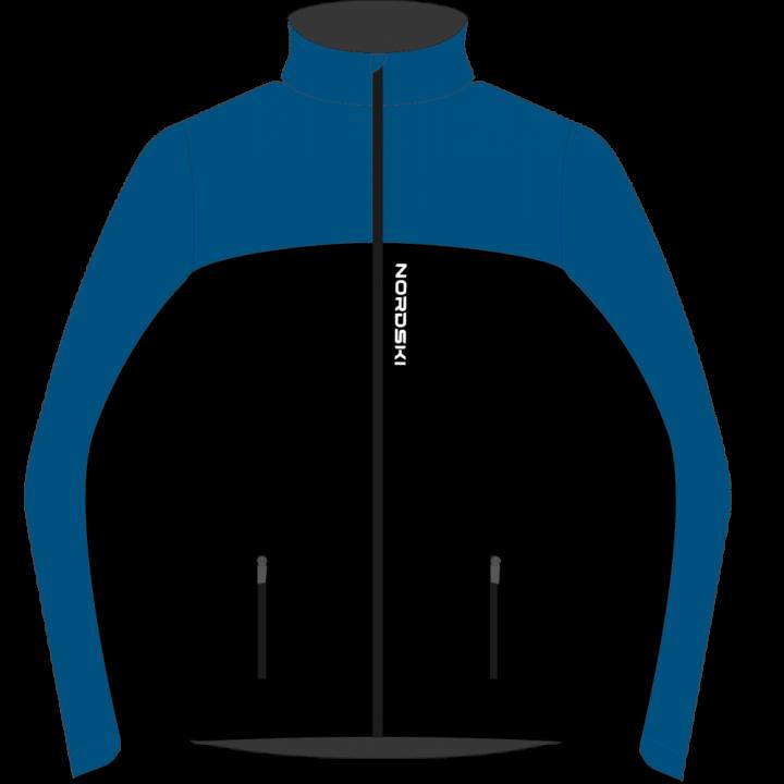 Куртка разминочная NordSki ACTIVE JR NSJ482710 blue/black