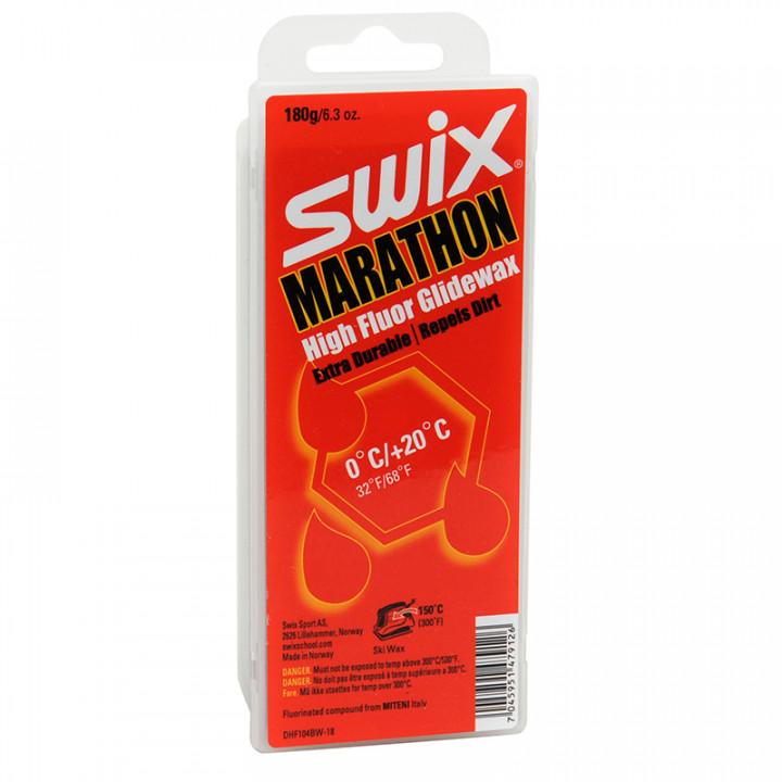 Парафин Swix DHF104BW Marathon /0...+20/ 180 гр. черный
