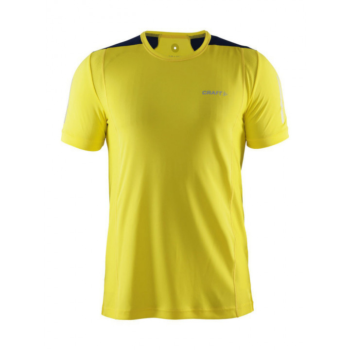 Футболка Craft Devotion Run 1903971 2553 желтый/серый