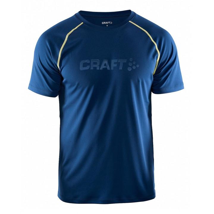 Футболка Craft Prime Run 1902497 2381 т.синий/желтый