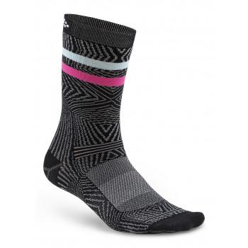 Носки Craft Pattern 1906061 999900 черный с полосками