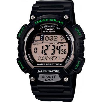 Часы Casio STL-S100H-1A 120 отсечек черный/зеленый