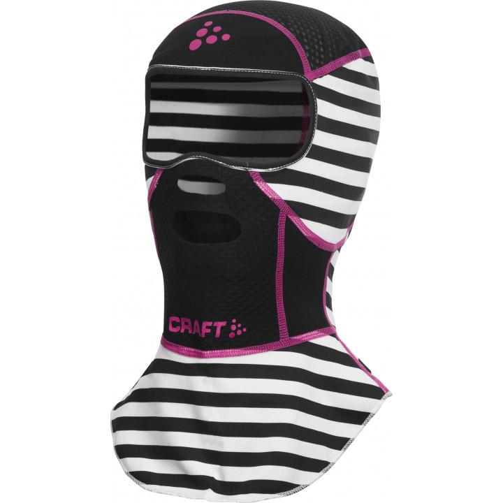 Балаклава-маска Craft Active Stretch 1901678 9474 черный/розовый
