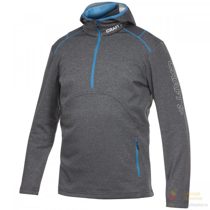 Толстовка Craft Active Logo Hood 1901681 9330 серый/синий