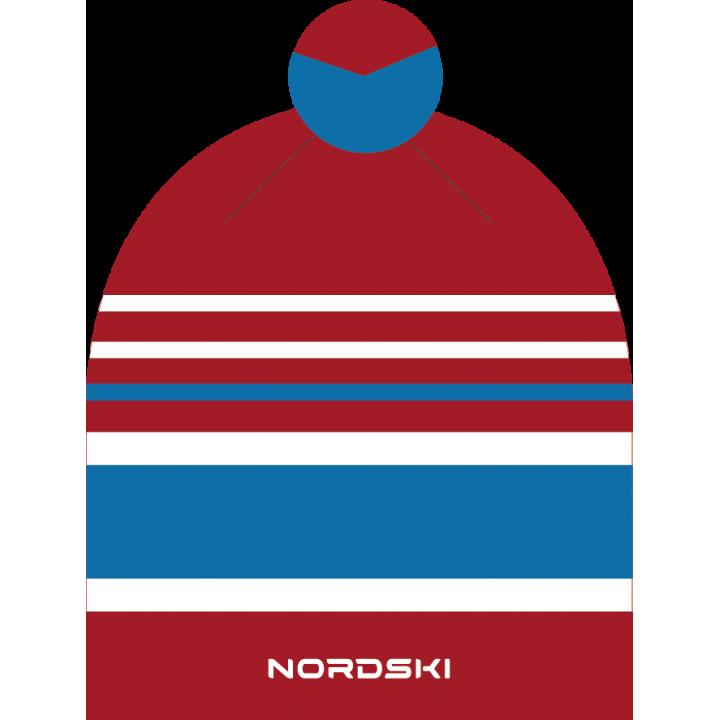 Шапка NordSki BRIGHT NSV473902 red rus