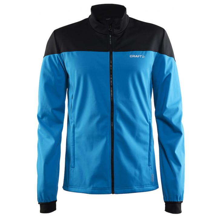 Куртка разминочная Craft Voyage 1903581 2661 черный/голубой