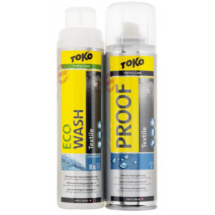 Пропитка водоотталкивающая Toko Textile Proof And Eco Textile Wash 5582504 Duo-Pack
