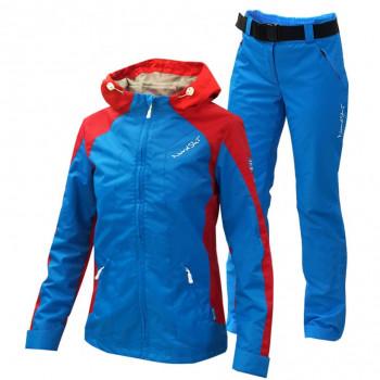 Ветрозащитный костюм NordSki National синий с красным