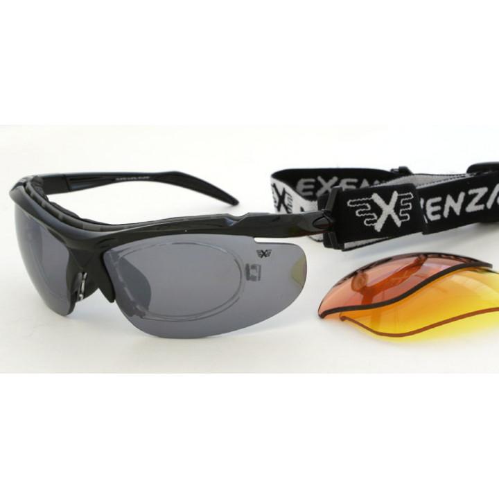 Очки Exenza 4на4 G04 сменные линзы 4шт. резинка диоптрии black