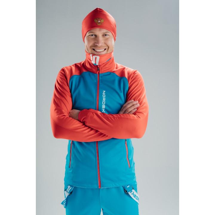 Куртка разминочная NordSki PREMIUM JR NSJ482879 blue/red