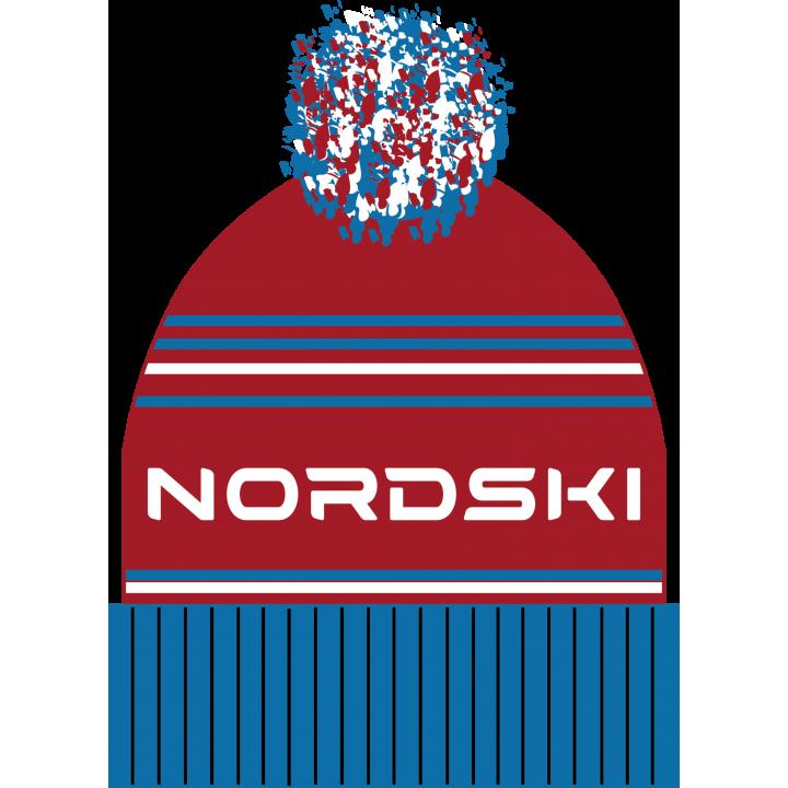 Шапка NordSki STRIPE NSV470702 blue rus