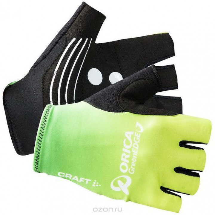 Велоперчатки Craft Orica 1904469 2900 черный/лайм