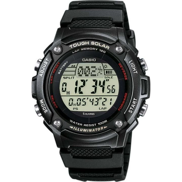Часы Casio W-S200H-1B 120 отсечек черный