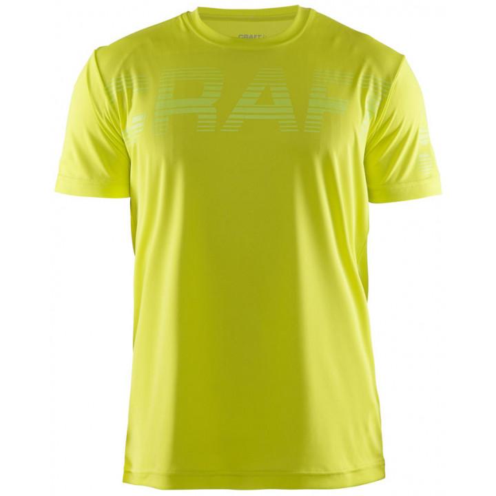 Футболка Craft Prime Run Logo 1904341 1605 желтый