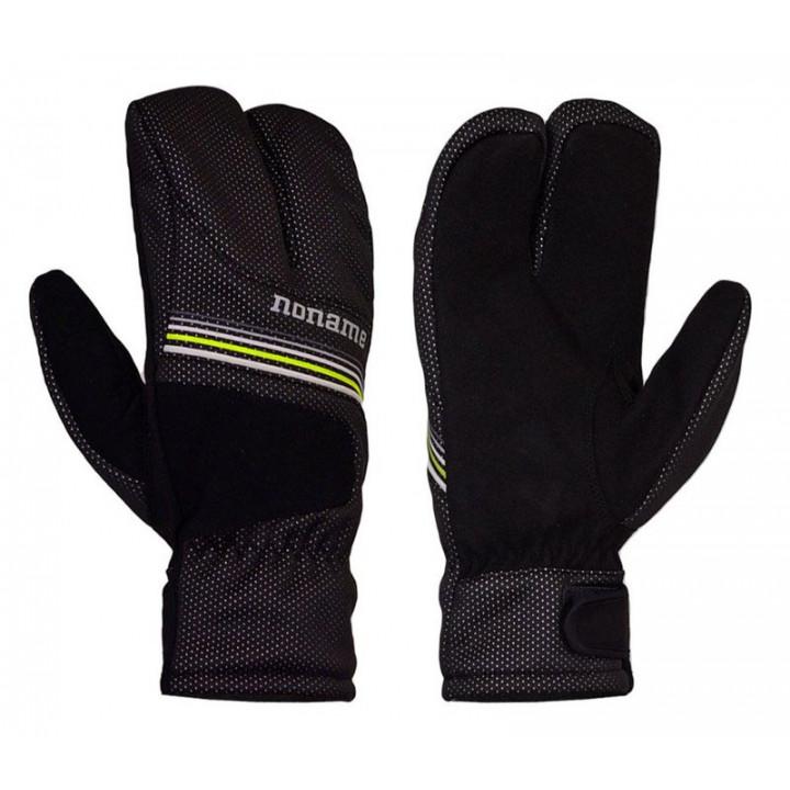 Перчатки-лобстеры NONAME LIGHT LOBSTER 19 black/lime