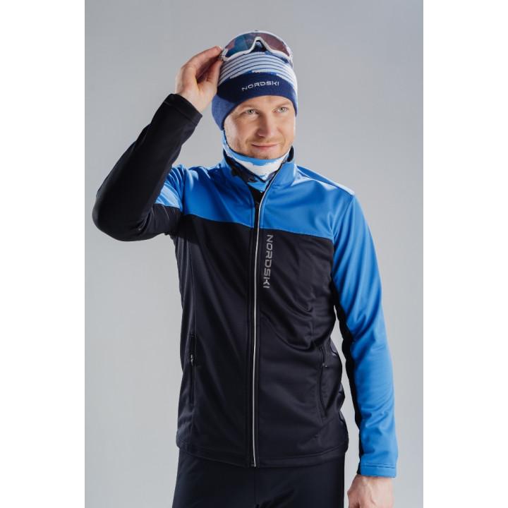 Куртка разминочная Nordski ACTIVE NSM483710 blue/black