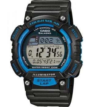 Часы Casio STL-S100H-2A 120 отсечек черный/синий