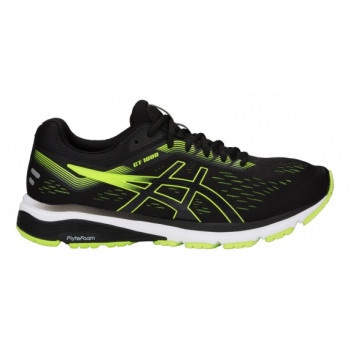 Кроссовки ASICS GT-1000 7 1011A042 004 black/hazard green