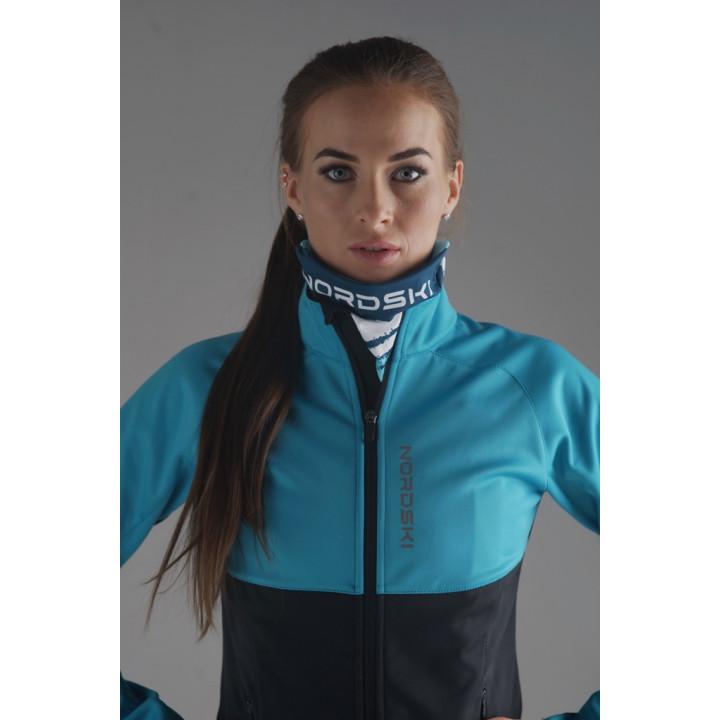 Куртка разминочная Nordski PREMIUM W NSW444715 breeze/black