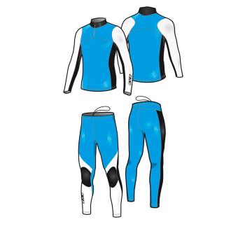 Комбинезон гоночный KV+ Lahti 7V118.2 синий/черный