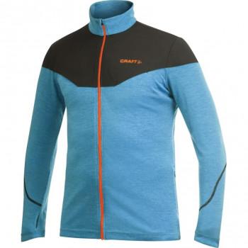 Толстовка Craft Light Wool 1901927 2310 голубой/оранжевый