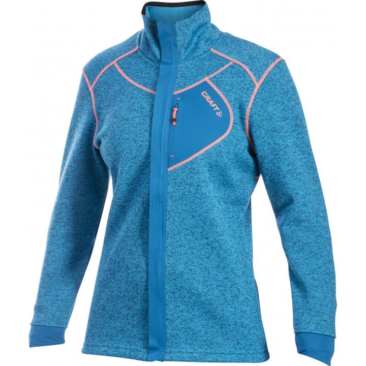 Толстовка Craft Warm 1901671 2350 синий меланж