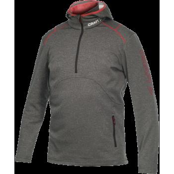 Толстовка Craft Active Logo Hood 1901681 2395 серый/красный