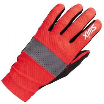 Перчатки лыжерол. Swix RADIANT H0200 90015 красный неон