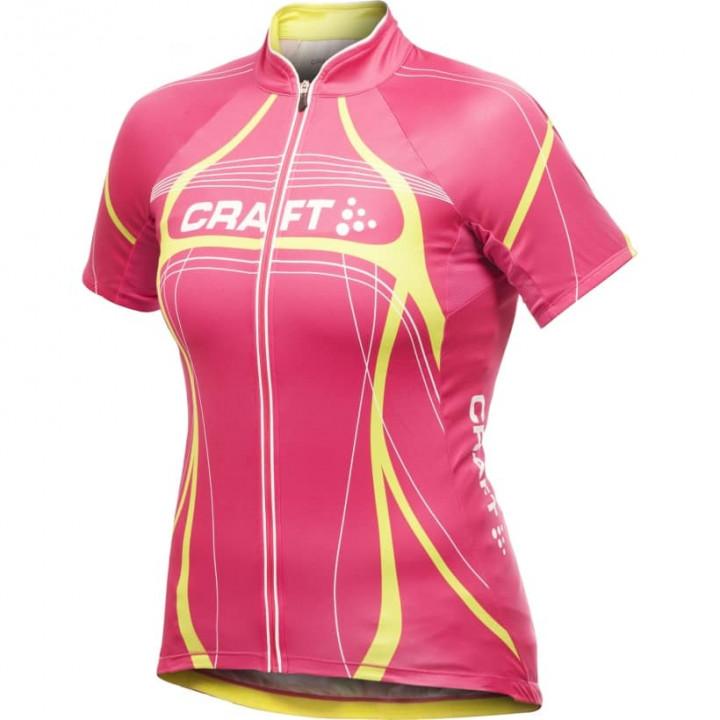 Велофутболка Craft Tour 1901268 2474 розовый/желтый