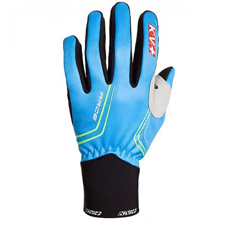 Перчатки KV+ RACE голубой/черный