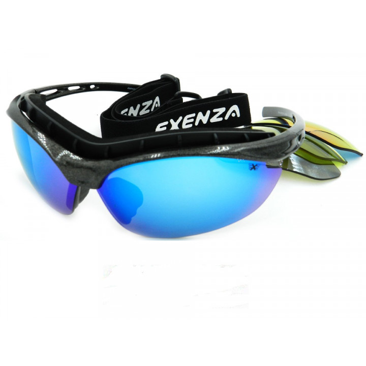 Очки Exenza 4на4 G05 сменные линзы 4шт. резинка диоптрии silver