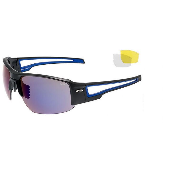 Очки GOGGLE ZENDER E885-4 сменные линзы 3шт. black/blue