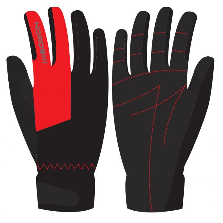 Перчатки NordSki RACING WS NSV136190 black/red