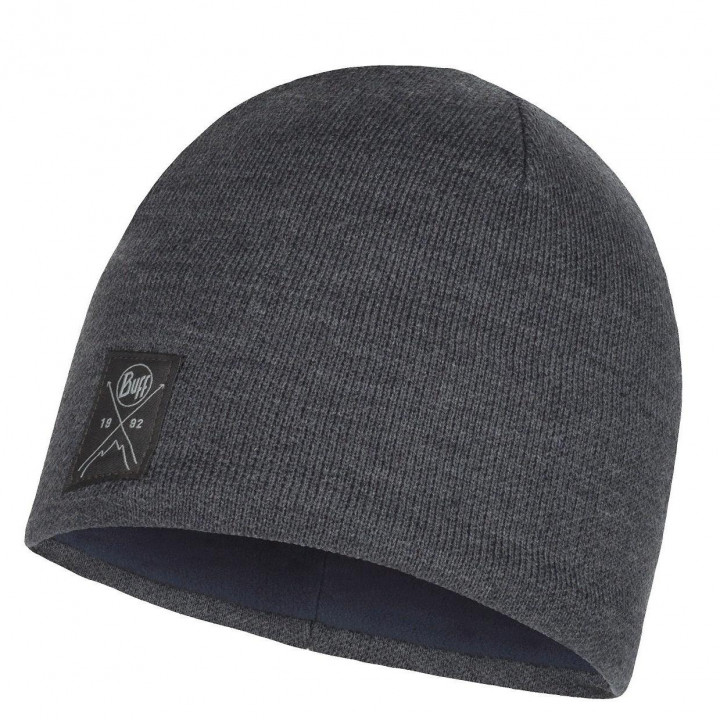 Шапка Buff KNITTED AND FLEECE HAT SOLID 113519.937.1000 grey