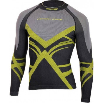 Терморубашка Victory Code SEAMLESS R black/lime